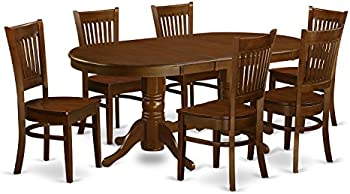 7-Piece East West Furniture Dining Room Set Table