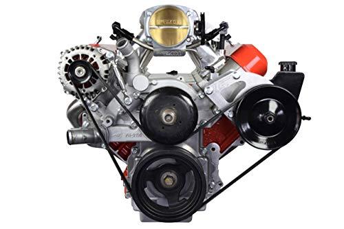 ICT Billet LS Truck Alternator & Power Steering Pump Relocation Bracket Kit Accessory Kit LSX Saginaw Compatible with 1999-2014 Silverado Sierra Yukon Tahoe Express Suburban 1500 2500 3500 551396-3