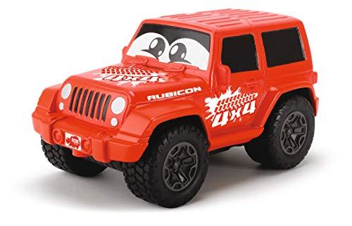 Dickie Toys Happy Series-Jeep Wrangler para niños a partir de 1 año, con mecanismo de retrofricción, cuerpo blandito, 11cm, modelos y colores aleatorios, surtido (3811001)