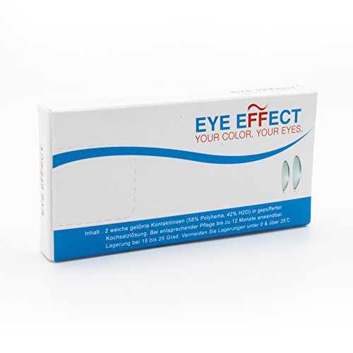 Eye Effect farbige Kontaktlinsen in vielen Farben für schöne natürlich Augen + gratis Kontaktlinsenbehälter (Blau Aqua) - 7