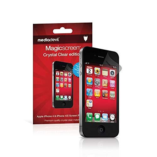 MediaDevil Pellicola Protettiva per iPhone 4 e iPhone 4S - Crystal Clear (Invisibile) - (2-Pezzi)
