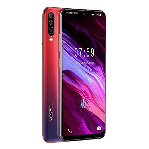 YESTEL P30 Smartphone da 6.3' Android 8.1 Dual SIM 4G VoLTE, Octa-Core, 4GB+64GB+256GB Espandibili Cellulare,13MP+8MP, Batteria 4180mAh Cellulare -Ambre Sunrise