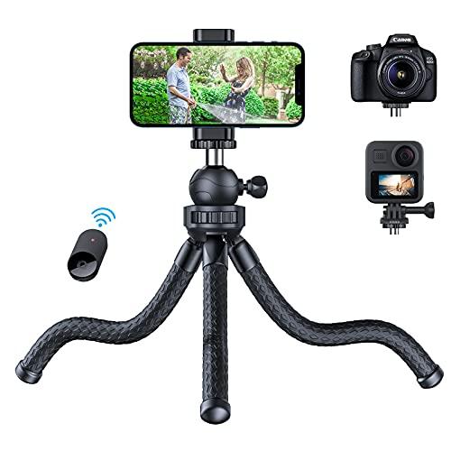 andobil Handy Stativ [2021 Stabiler & Flexibeler] Stativ für Smartphone mit Bluetooth-Fernbedienung & Telefonhalterung 360° Rotation Mini Stativ für iPhone/Samsung/GoPro/Kamera innerhalb von 1,2 kg