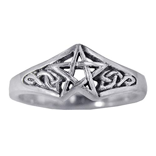 Moonlight Mysteries Sterling Silver Celtic Knot Pentagram Star Ring Size 7