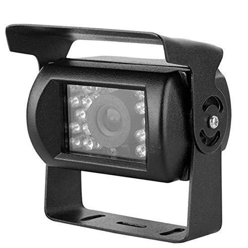 IR Nachtsicht Auto Rückfahrkamera 4 Pin CCD 12V-24V Fahrzeug Rückfahrkamera Wasserdicht für Vans Bus LKW Anhänger (schwarz)