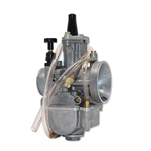 Universal 2T 4T Carburetor Motocicleta Carburador PWK21 24 26 28 30 32 34 mm con Power Jet for Racing Moto (Color : 24mm OK)