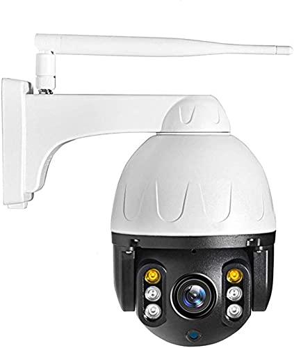 HLSH WiFi Ip-Kamera, 1080p Ptz Ip-Kamera 360 ° Auto-Tracking Outdoor-onvif-wasserdichte Mini-Speed-Dome-Kamera 2mp-ir-CCTV-überwachungskamera Mit Nachtsicht, 2-Wege-Audio(Size:Camera+128G)