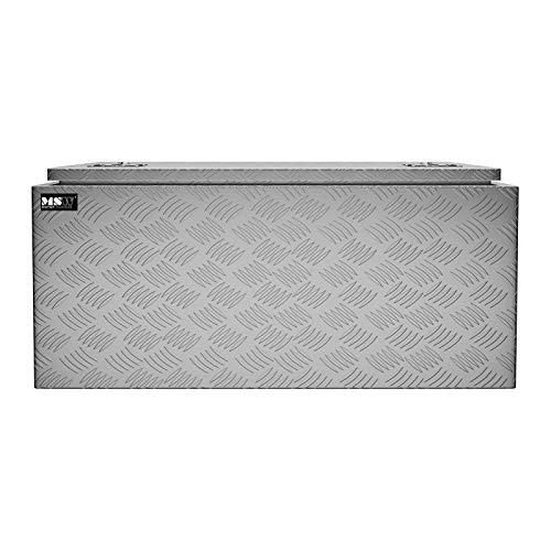 MSW Alubox abschließbar Werkzeugkasten ATB-910 Deichselbox 119 L Transportbox Metallbox mit Deckel Riffelblech 91 x 44,5 x 43 cm Aluminiumbox - 4