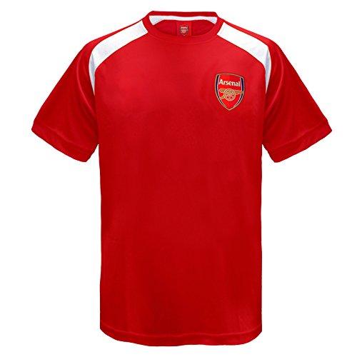 Arsenal FC - Camiseta oficial de entrenamiento - Para niño - Poliéster - Rojo - 12-13 años