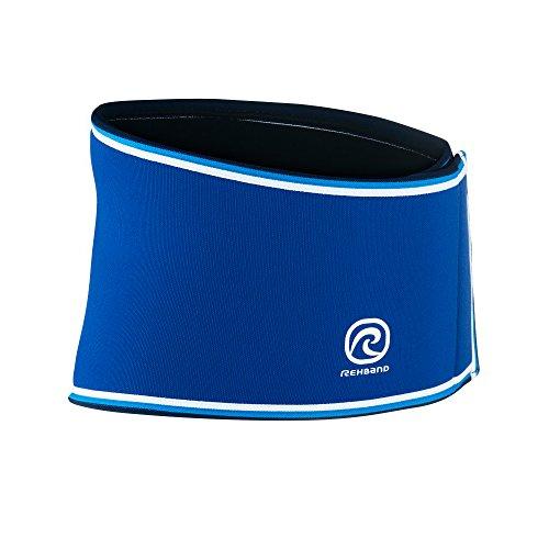 Rehband Blue Line Back Support 7082 - Large - 7mm Neoprene Back Brace - Posture Corrector for Women + Men - Offers Lower Back Relief + Lumbar Support - Lower Back Support Belt for Men + Women
