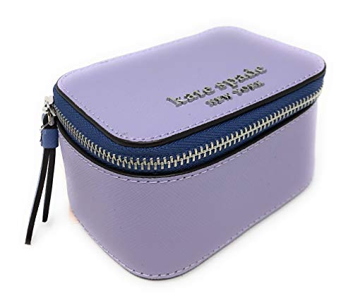 Kate Spade New York Jewelry Holder Travel Box Lilac Purple Saffiano Leather