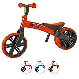 Yvolution Y Velo Junior Balance Bike ジュニア幼児用バイク | ペダルなし自転車|バランスバイク |キックバイク| 対象年齢18ヶ月 1歳 2歳 3歳 4歳 レッド red 平衡感覚育成