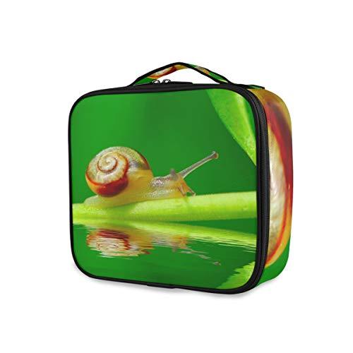 Toilettas, reisslak op groen blad, voor in de tuin, zwembad, opbergen, make-up bag organizer draagbaar