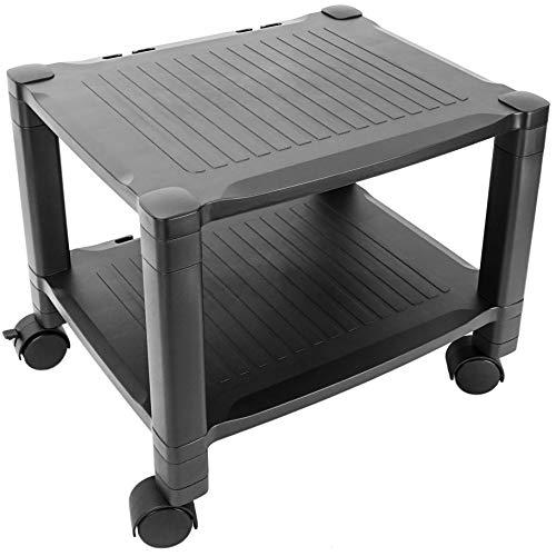PrimeMatik - Mesa auxiliar para impresora Carro con ruedas con pasacables (AG061)