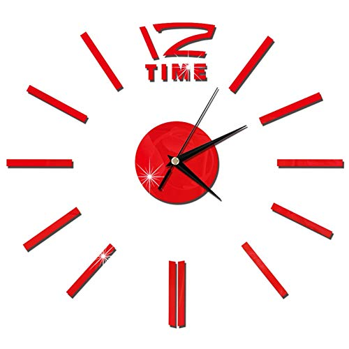 LUJIAN Top Modern Mute Reloj De Pared Grande Reloj De Moda Reloj De Pared 3D Relojes De Pared DIY Etiqueta De Espejo De Acrílico Decoración para El Hogar Sala De Estar Aguja De Cuarzo Nuevo