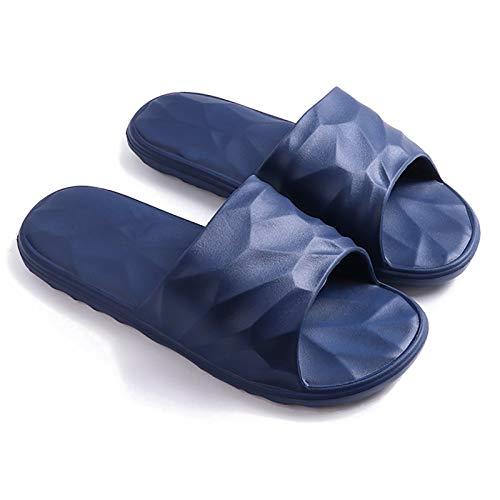 Zapatillas de Estar por Casa, Zapatillas Antideslizantes Para Hombres Y Mujeres, Sandalias De Ducha Para Uso En Interiores Y Exteriores, Suela De Espuma Suave, Zapatos Para(Color:Azul,Size:42-44EUR)