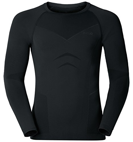 Odlo Herren Evolution Warm Baselayer Shirt T, Black Graphite Grey, M