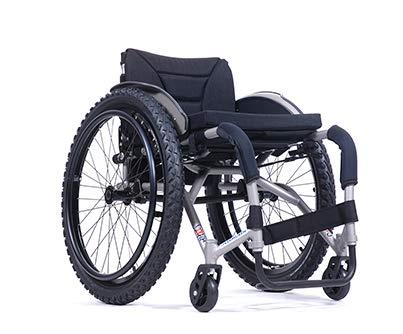 Rollstuhl Adaptivrollstuhl mit starrem Rahmen | Sitzbreiten 36 cm - 46 cm| Maximale Belastbarkeit: 100 kg | Vermeiren SAGITTA (Sitzbreite 42cm)