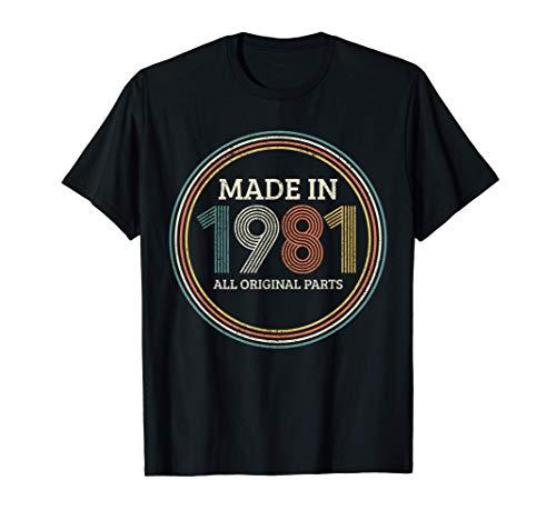 Uomo 40 Compleanno 40 Anni Regalo Vintage 1981 Maglietta