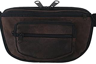 MEDIUM - Concealed Carry Fanny Pack RUGGED ULTRA-SOFT SUEDE LEATHER-Brown