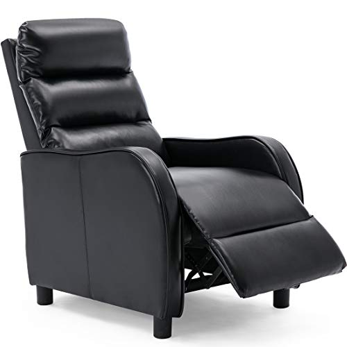 More4Homes SELBY BONDED LEATHER PUSHBACK RECLINER ARMCHAIR SOFA GAMING CHAIR RECLINING (Grey)