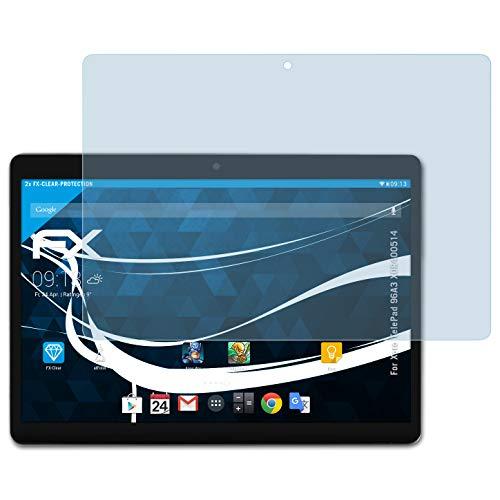 atFolix Schutzfolie kompatibel mit Xoro TelePad 96A3 XOR400514 Folie, ultraklare FX Bildschirmschutzfolie (2X)