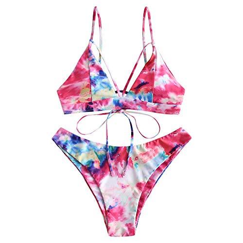 ZAFUL Bikini Sexy Triangle Set 2 teilig Bikini Gepolsterte Schultergurte verstellbar Gr. M, C-Muilt-B