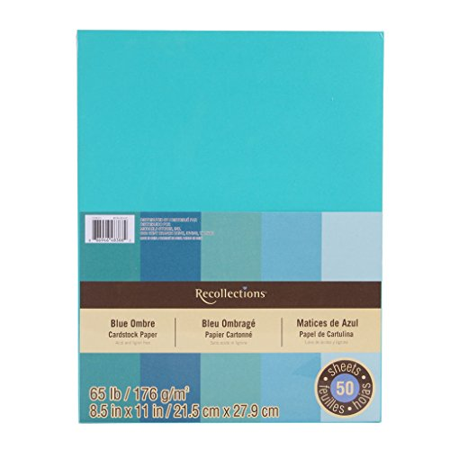 Cardstock Paper, Blue Ombre