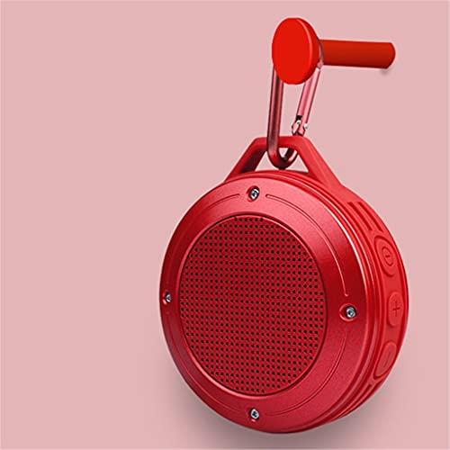 CHYSP Drahtloser Bluetooth-Lautsprecher Kleiner Lautsprecher großes Volumen Bass tragbarer Kleiner Lautsprecher Auto im Freien (Color : Red)