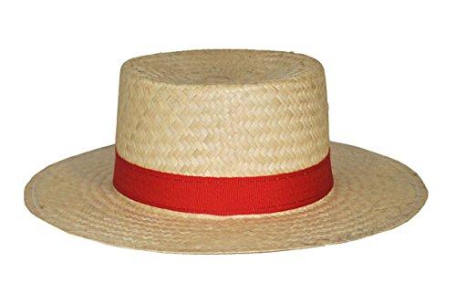 Funny Fashion Chapeau avec Gondolier et Ruban Rouge