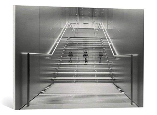 Kunst für Alle Cuadro en Lienzo: Renee Doyle Illusional Stairs - Impresión artística, Lienzo en Bastidor, 90x60 cm