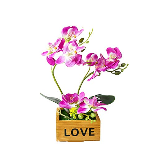 BOENTA Artificial Orchid Orchid Plant Indoor Plant Pots House Plant Plants House Plants House Plants Indoor Large Indoor Plant purple