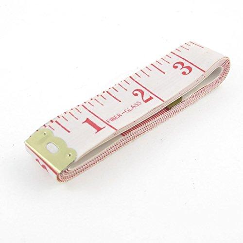 Metro da sarta, 150 cm - rosa - 1 (Bianco con testo...
