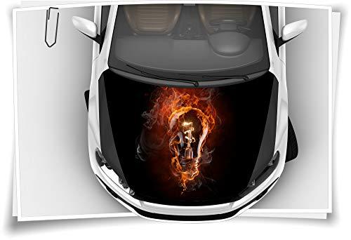 Medianlux Glühbirne Feuer Flamme Rauch Strom Rot Schwarz Motorhaube Auto-Aufkleber Steinschlag-Schutz-Folie Airbrush Tuning Car-Wrapping Luftkanalfolie Digitaldruck Folierung