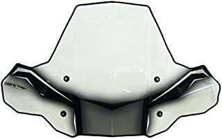 PowerMadd 24574 ProTEK Windshield for ATV - Rapid Release Mount - Clear with black graphics