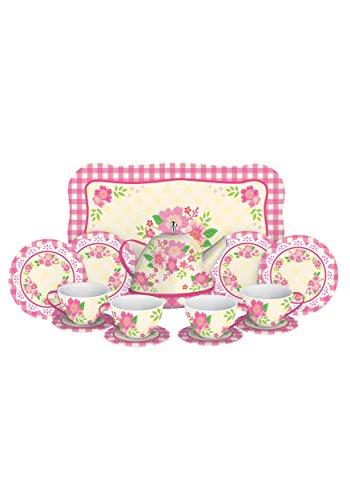 Schylling Fancy Tin Tea Set , Red