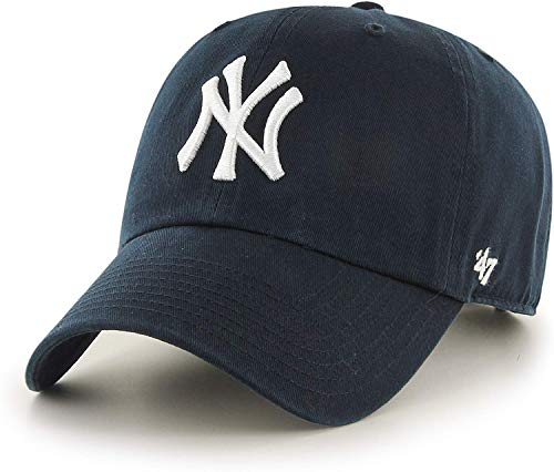 47 Brand- Gorra de Adulto, New York Yankees Clean Up, Azul Marino, Talla única