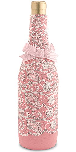 Epic Products Neoprene Wine Bottle Epicool, 10-Inch, Pink Lace