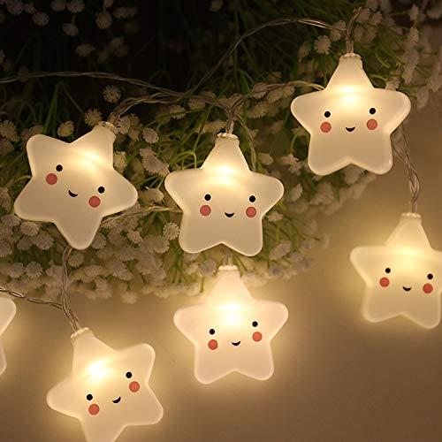 LED Pentagram String Lights, 9.8ft 20 LED Waterproof Star Lights, Battery Powered Starry Fairy String Lights for Bedroom, Garden, Christmas Tree, Wedding, Party