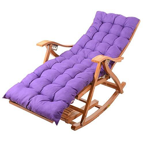 Bseack Fauteuil à bascule, chaise polyvalente réglable pliante à plusieurs vitesses Chaise en bois massif de loisirs/bascule Jardin (Couleur : B)