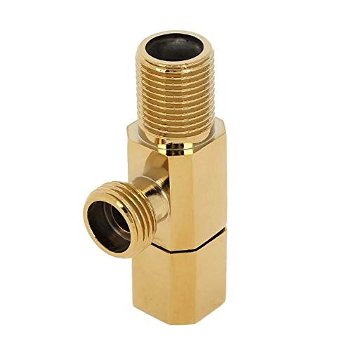 AIGUO 1 PC-Eckventil, Messing Wasserventil, Warm/Kalt Wasserabsperrung Wasserhahn Eckventil, Badezimmer, WC, Mischer-Hahn-Dusche Zubehör