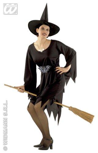 Generique - Déguisement Sorcière Magicienne Classique Halloween Femme Noir Taille S