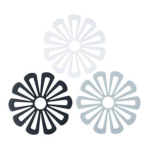 Coomazy Estera del salvamanteles de Silicona Resistentes al Calor, Antideslizantes,Apto para lavavajillas (Flor: 160x138x8mm)