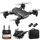 XIAOKEKE Dron Equipado con Cámara 4K De Alta Definición, Dron De Control Remoto De Posicionamiento De Flujo Óptico Profesional Plegable (2 Baterías), Modo Sin Cabeza, Retorno De Una Tecla