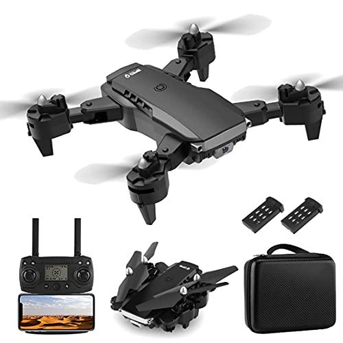 XIAOKEKE Drone Dotato di Telecamera 4K Ad Alta Definizione, Drone con Telecomando di Posizionamento del Flusso Ottico Pieghevole (2 Batterie), modalità Senza Testa, Ritorno con Un Solo Tasto