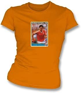 Marco Van Basten 1988 Holland Orange Women's Slimfit T-Shirt