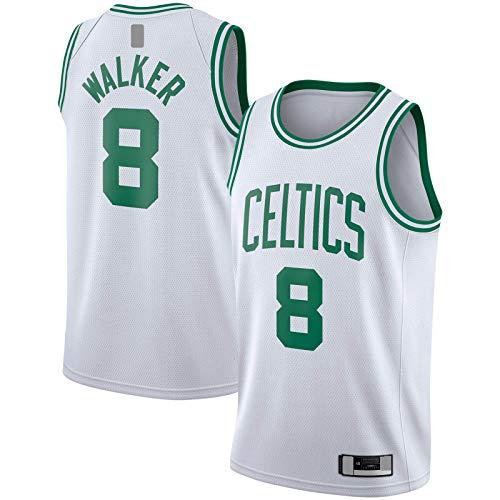 LANHUA Camiseta blanca Swingman Jersey Boston Association EditionCustom Celtics Sudadera #8 Kemba Baloncesto Jersey Walker Sports -M