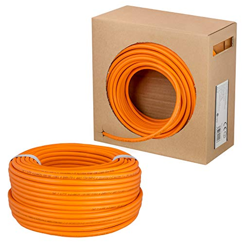 HB-DIGITAL - Cable de Red LAN (Cat. 7, Velocidad de Transferencia de hasta 10 Gbit/s, Cobre Profesional, S/FTP, PIMF, LSZH, Libre de halógenos) 7 Cat7 AWG 23/1.