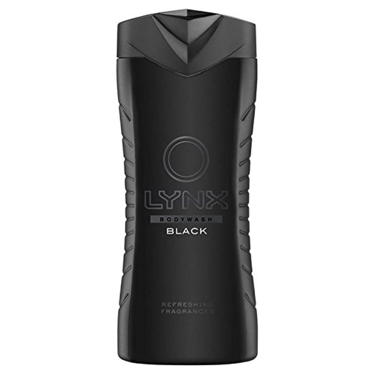 レンドランチョン自分のオオヤマネコブラックシャワージェル400ミリリットル x4 - Lynx Black Shower Gel 400ml (Pack of 4) [並行輸入品]