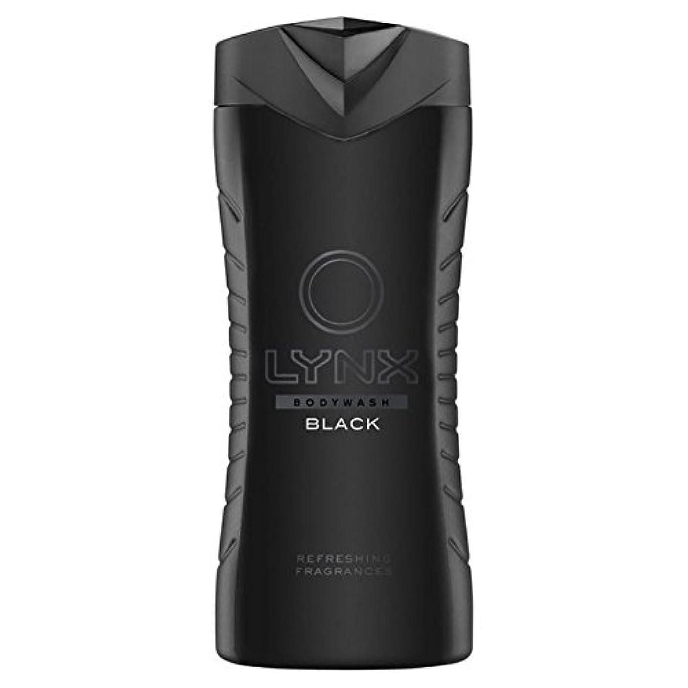 洗練された言う申請者オオヤマネコブラックシャワージェル400ミリリットル x4 - Lynx Black Shower Gel 400ml (Pack of 4) [並行輸入品]
